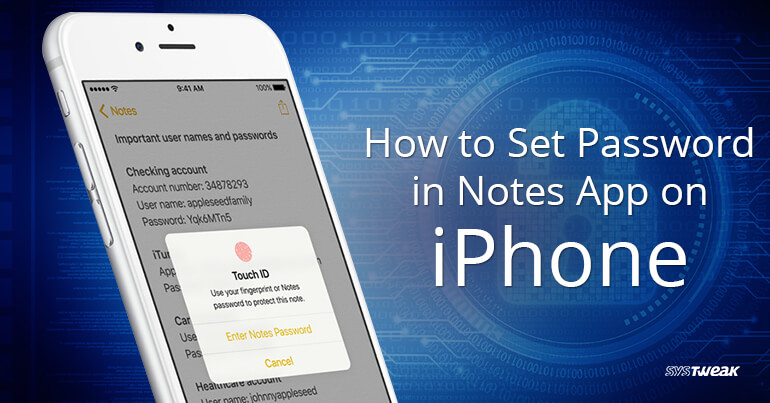 How to Set Password in Notes App on iPhone