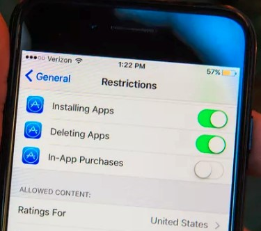 iphone restrictions