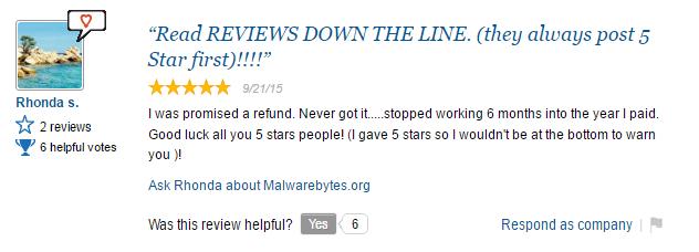 malwarebytes scam user review