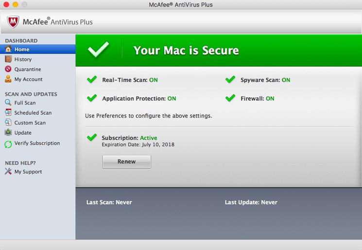 mcafee antivirus for mac 2017