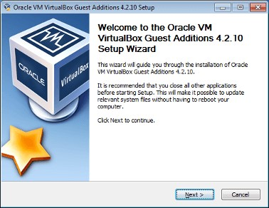 oravle vm virtualbox