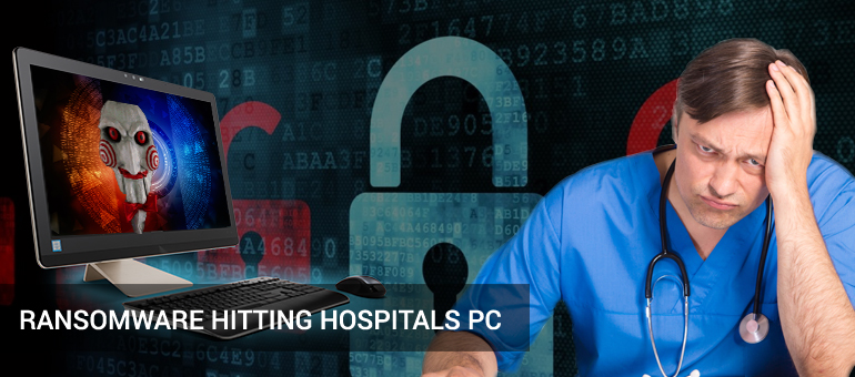 ransomware hitting on hospitals PC in USA and Cananda