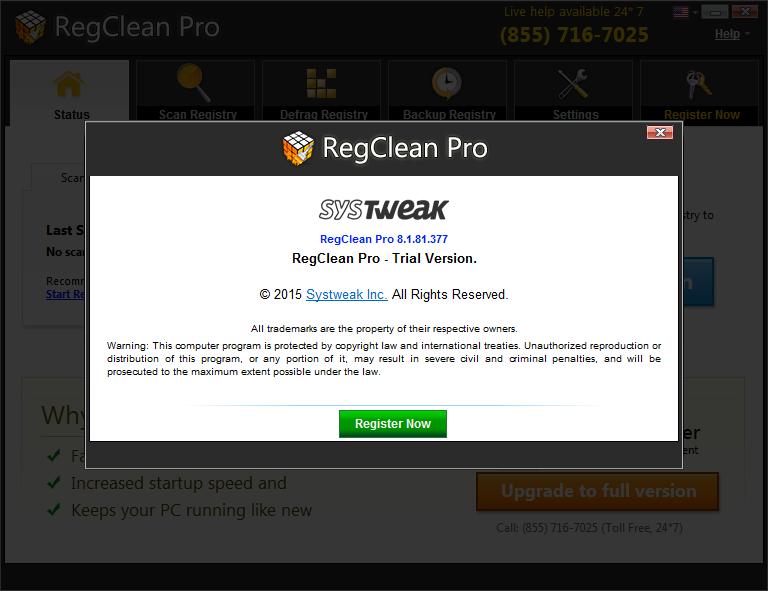 reg clean pro version screen