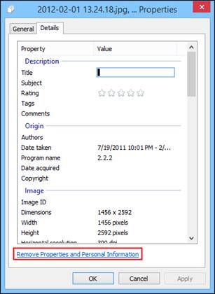 remove exif data windows