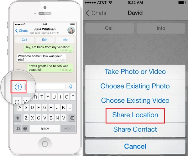 whats app tip- share-location