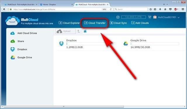 shift files from Google Drive to Dropbox