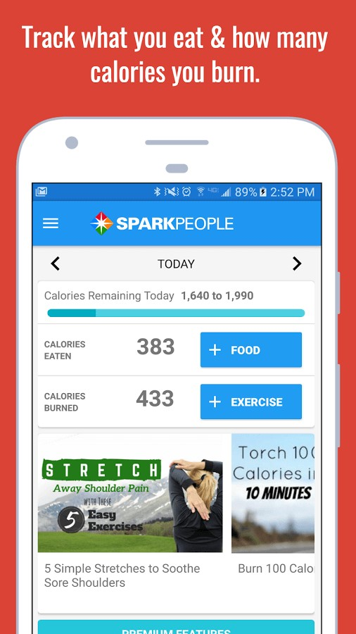 spark people calorie counter