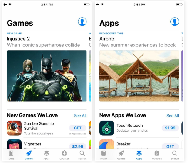 spotlight for apps and games in ios 11