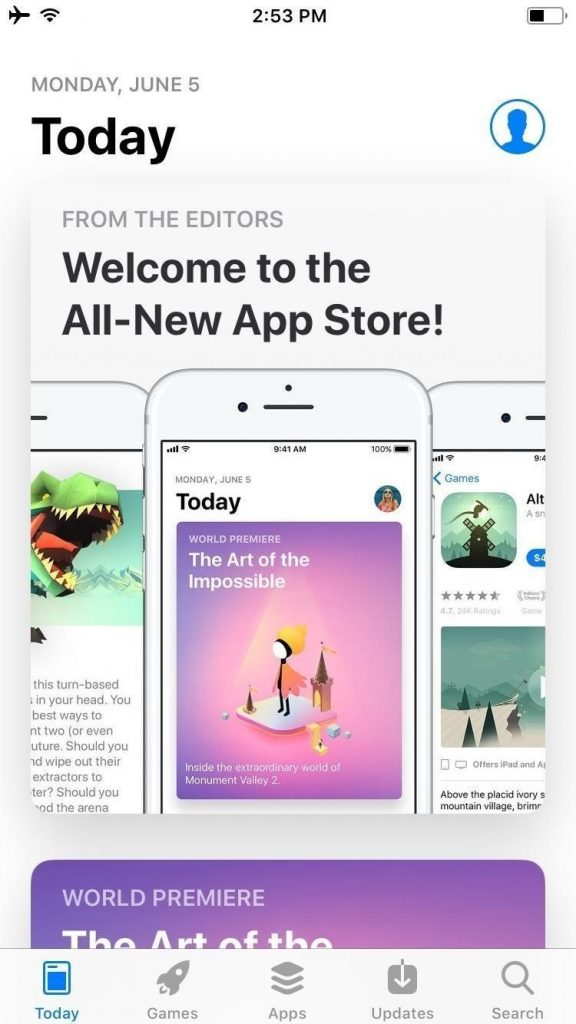 today section in ios 11 app store