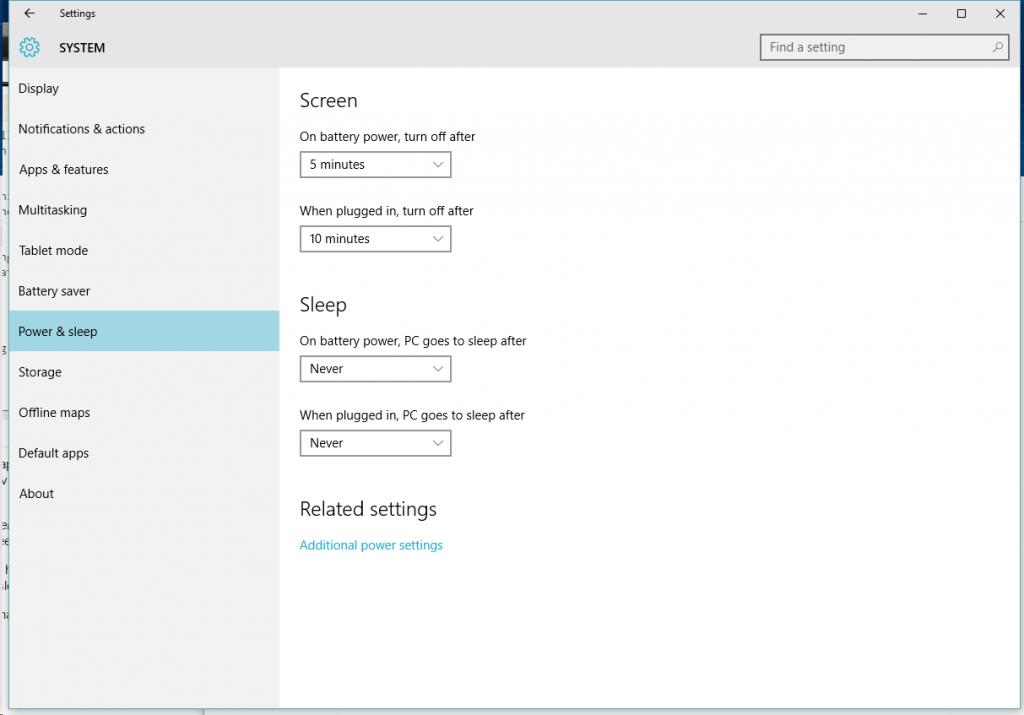 tweak power setting to improve windows 10 speed