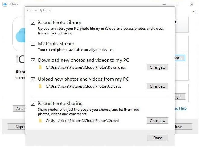 upload icloud photos from windows pc