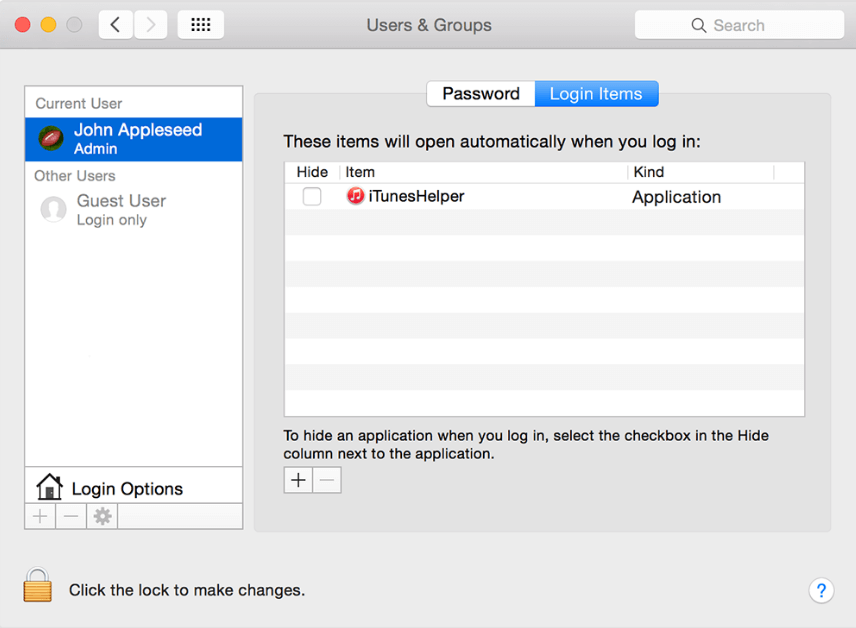 user and groups in mac