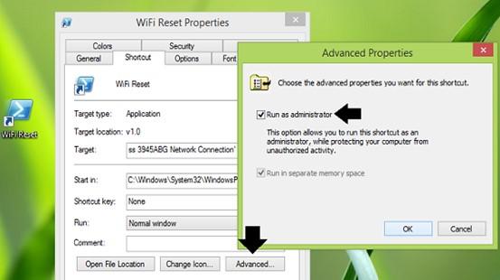 wifi advanced properties
