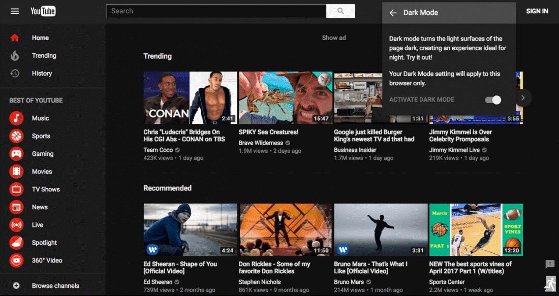 youtube-settings-for-dark-mode