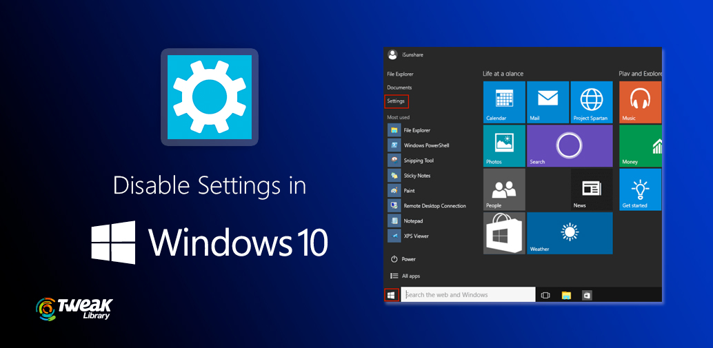 How To Disable Settings In Windows 10