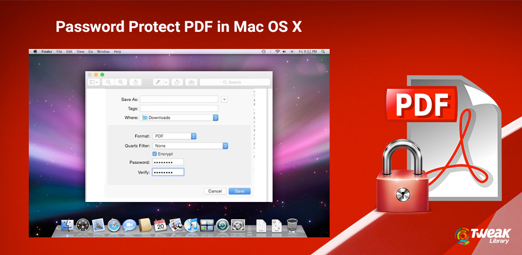 How To Password Protect PDF In Mac OS X