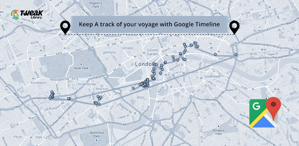 Google Timeline:  Track The Routes You Have Traveled