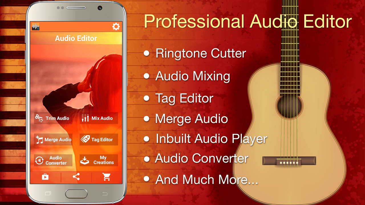 Audio MP3 Cutter Mix Converter and Ringtone Maker - Android Audio Editor