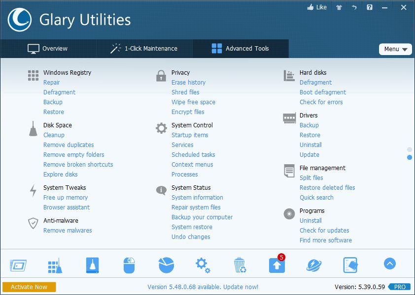 Glary Utilities Pro 5 - Tuneup Utilities