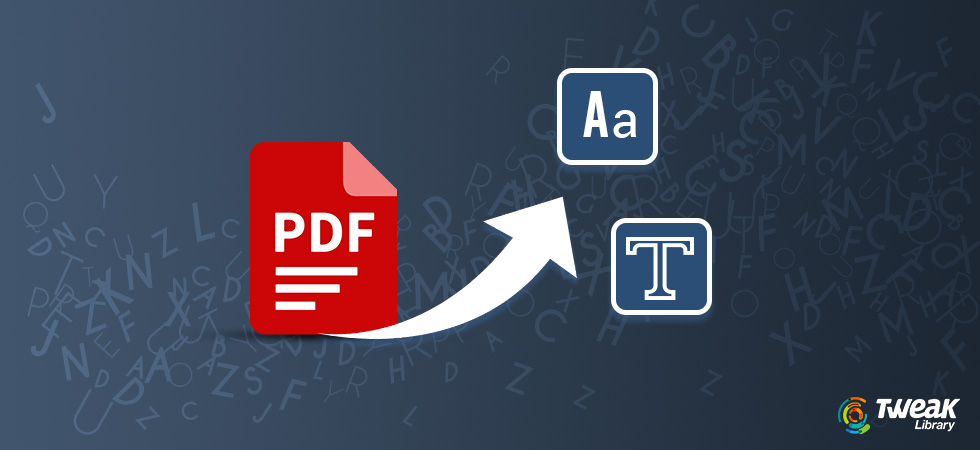 How To Convert Scanned Pdf Documents To Plain Text