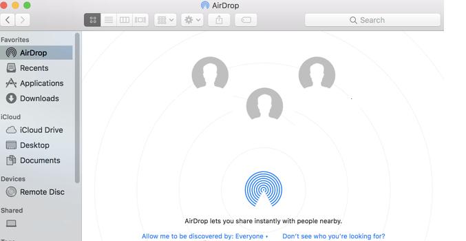 Show Airdrop in Finder