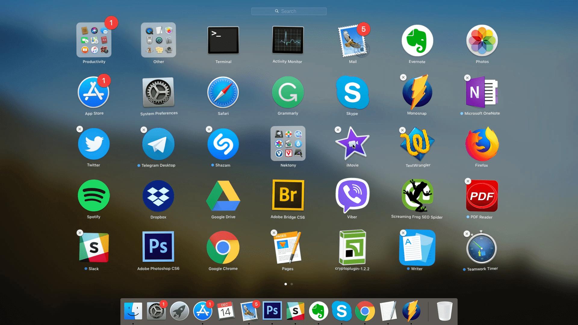 Uninstalling apps on Mac using Launchpad