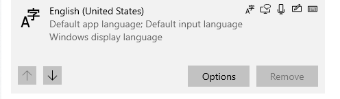 Default Language settings