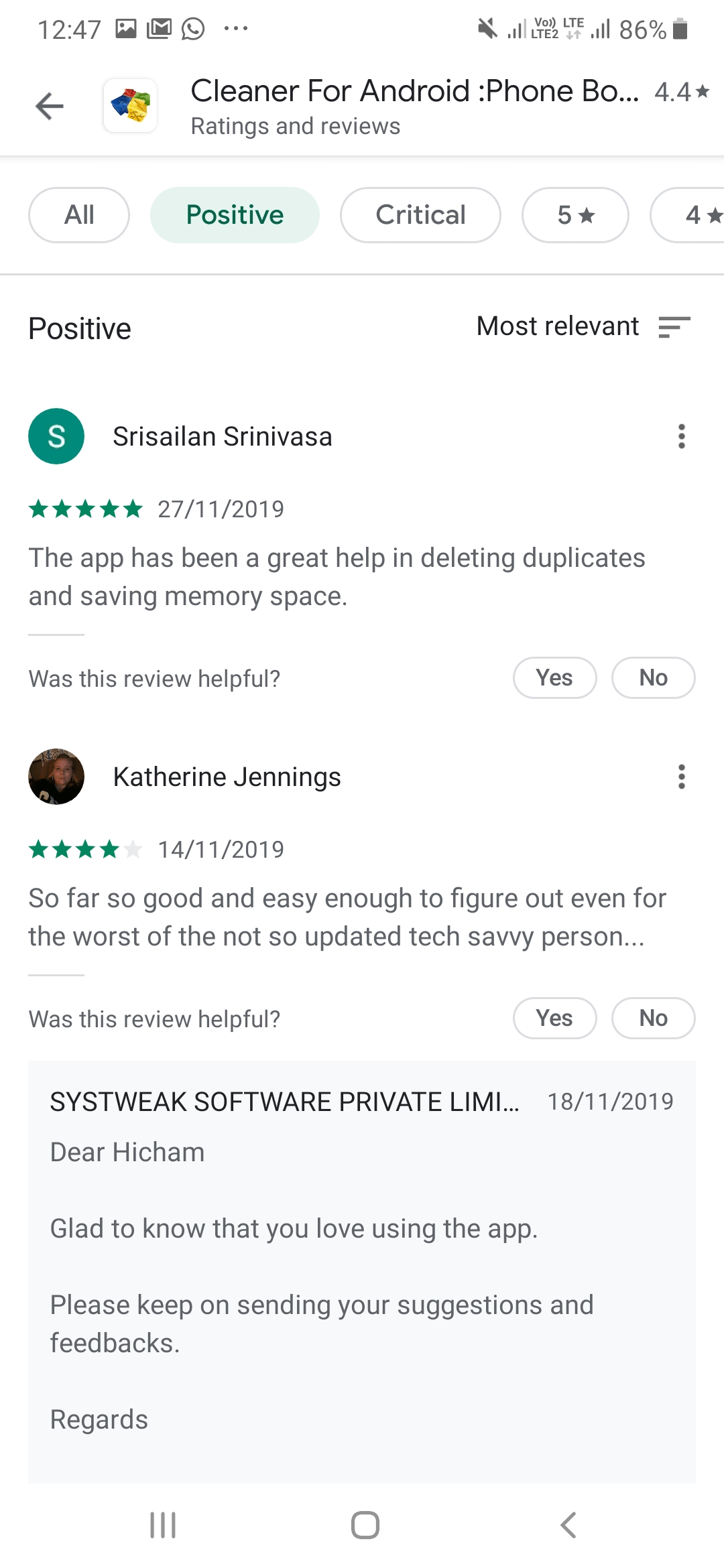 rating - play store install