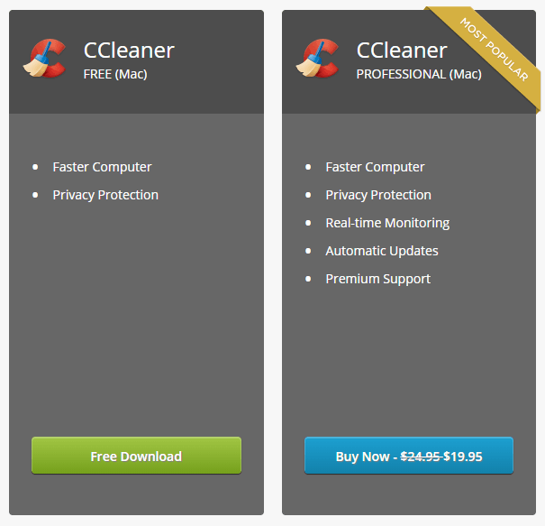 CCleaner - Free or Professional Version
