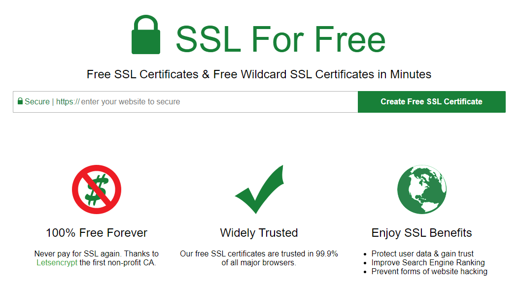 Free SSL Certificate Authorities