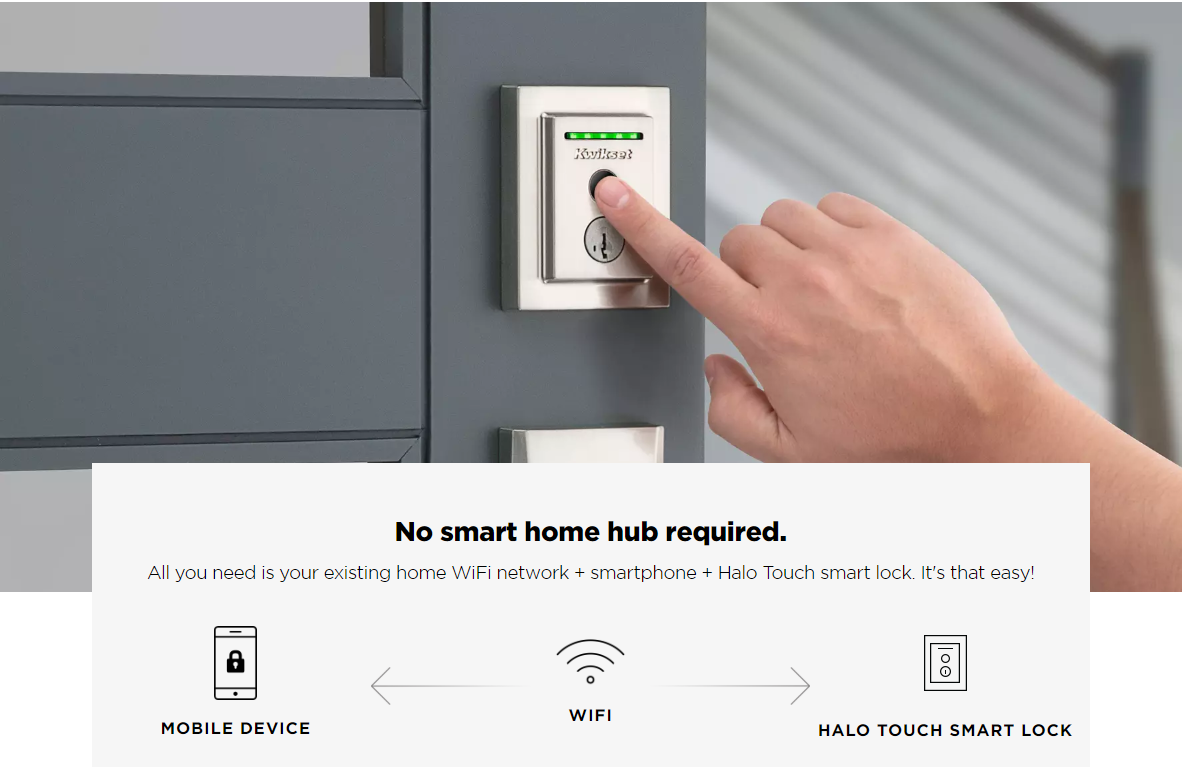 Kwikset Halo Touch Smart Lock With Fingerprint Reader