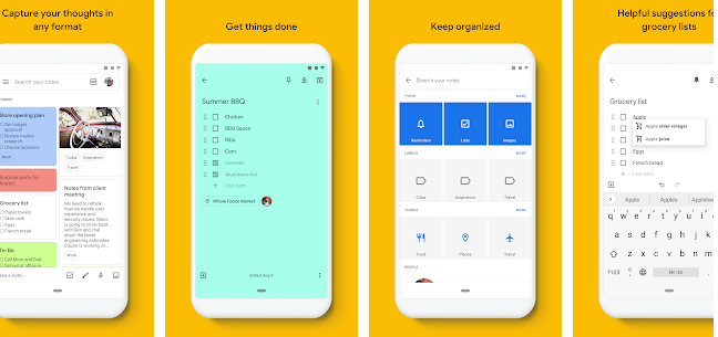 Google Keep Note-Taking Apps