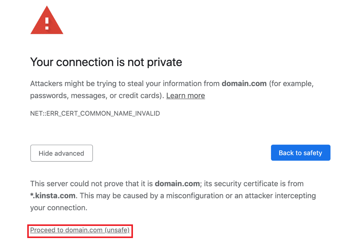 your-connection-is-not-private-error-message-in-chrome