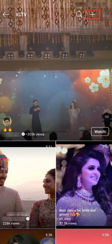 Add iGTV video