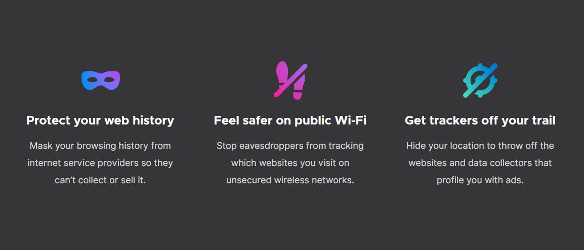 Mozilla VPN features