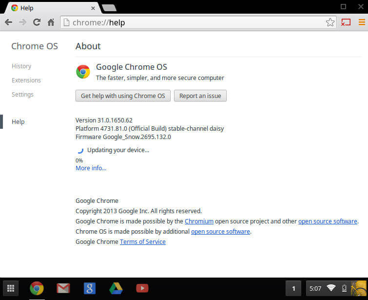 Updating Drivers in Chromebook