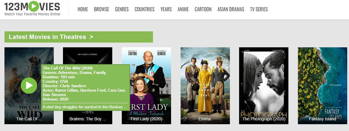 123 Movies - Putlocker Alternatives