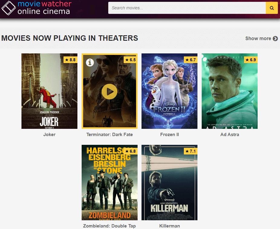 Moviewatcher - Putlocker Alternative