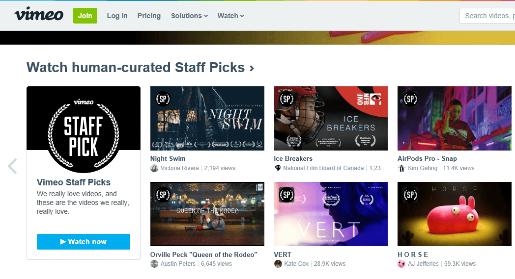 Vimeo - Putlocker Alternatives