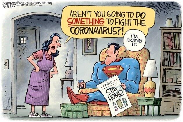 Superman accepts social distancing