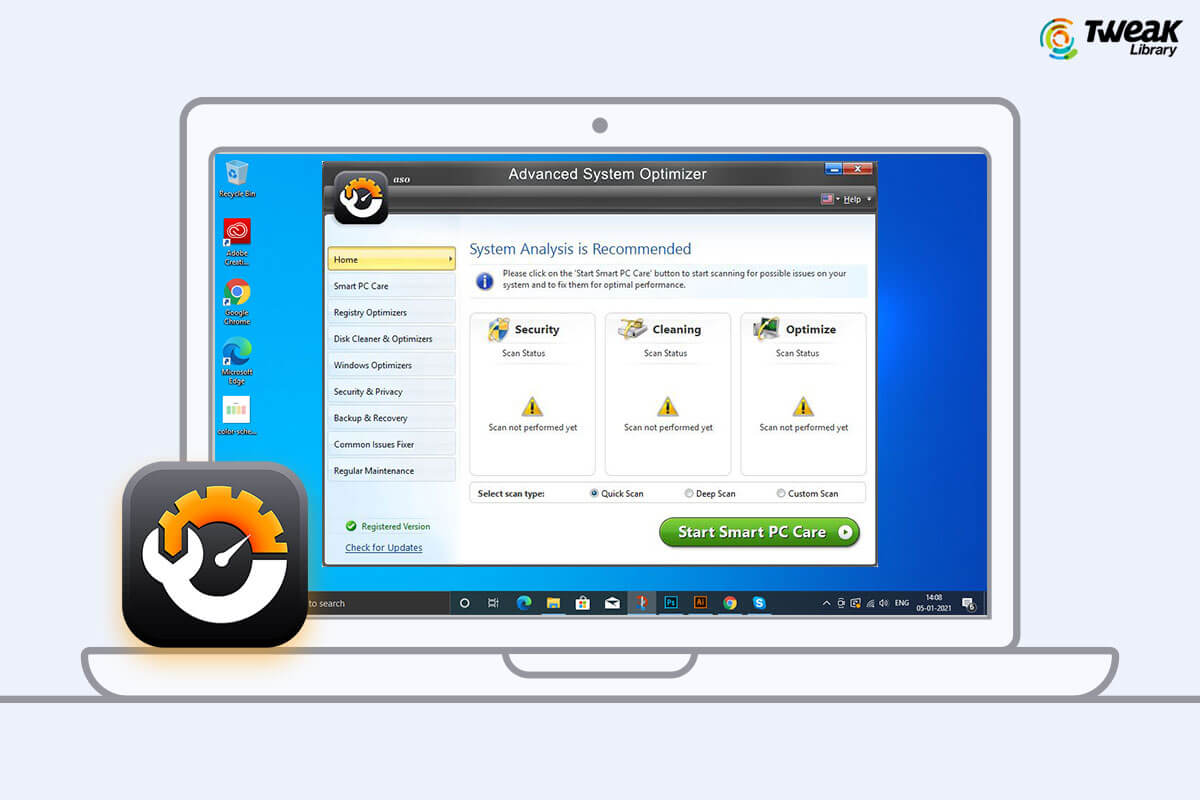 Review : Advanced System Optimizer – Free PC Cleaner & Optimizer