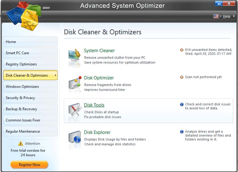 Advanced System Optimizer - Disk Cleaner