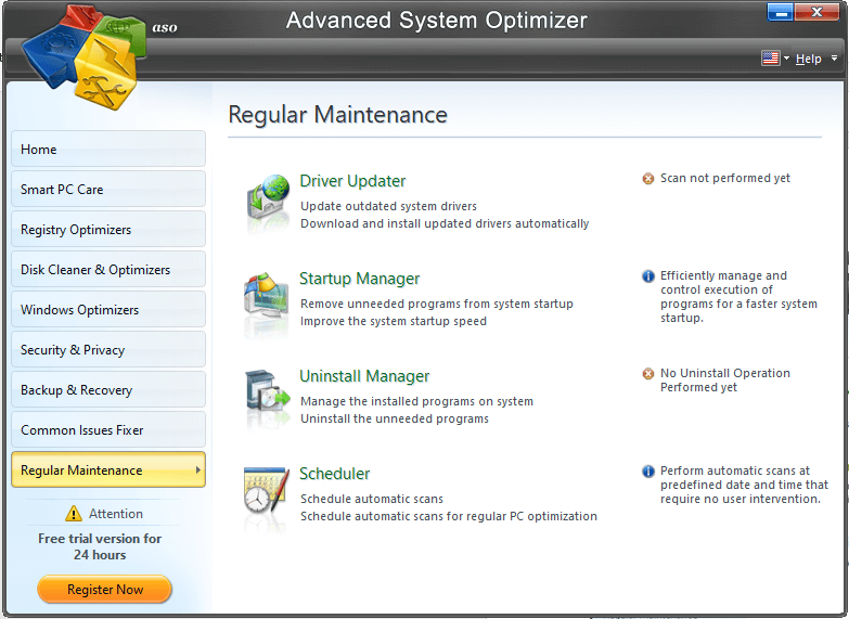 Advanced System Optimizer- regular maintenance