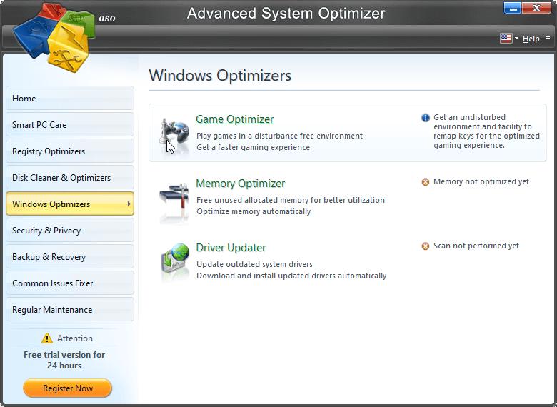 Advanced System Optimizer- windows optimizer
