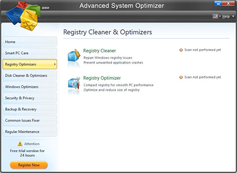 Advanced System Otimizer- Registry Optimizer