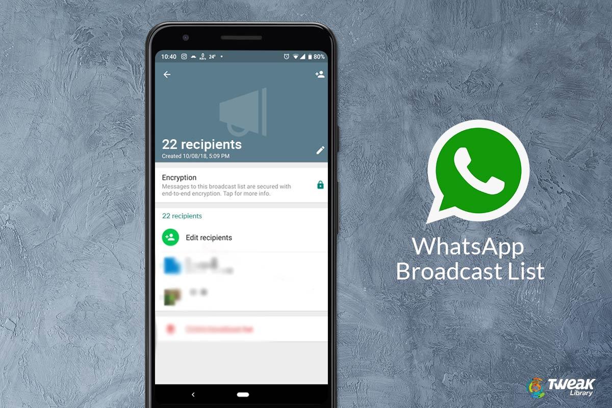 Create Whatsapp broadcast List