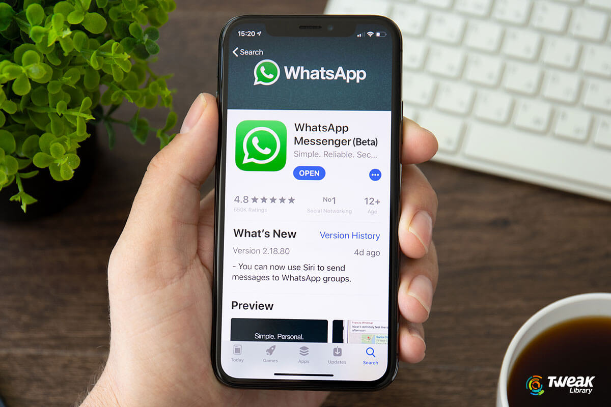 WhatsApp Beta Version Adds New Feature on The iOS App