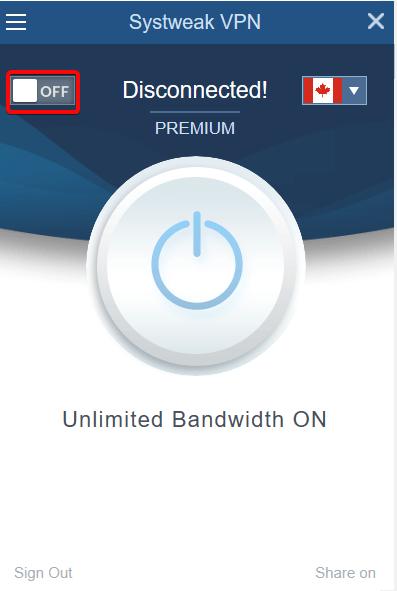 Enable Systweak VPN