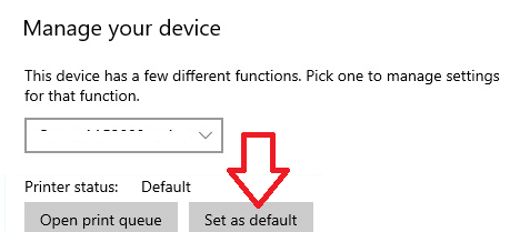 Manage Your Device Set As Default