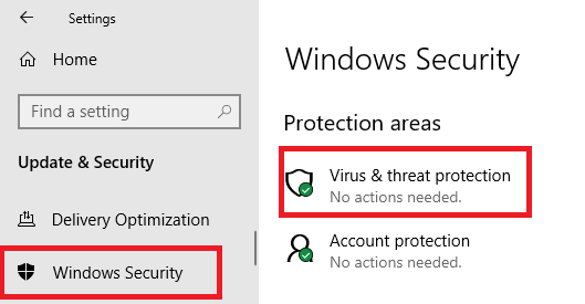 Virus and Threat Protection - Windows Security